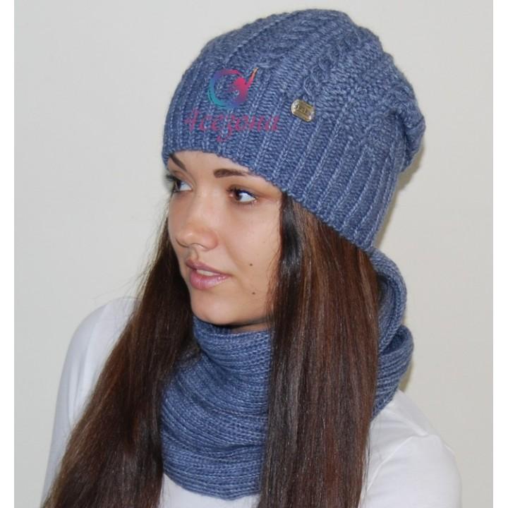 Комплект шапка и хомут LeLa Vanessa