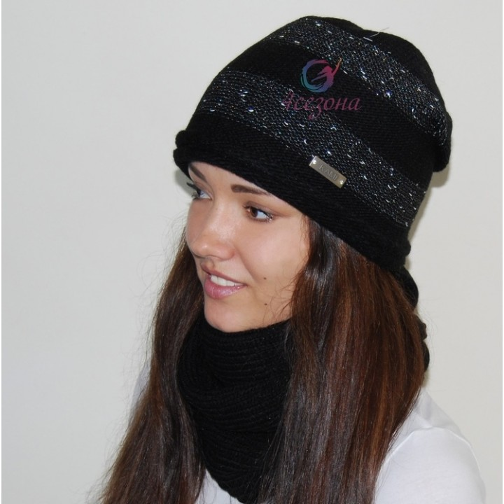 Комплект шапка и хомут Kami Fanny
