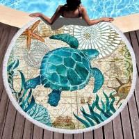 Пляжное полотенце Черепаха
