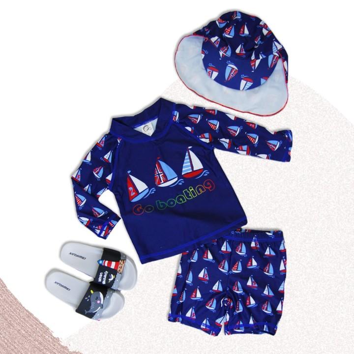 Купальный костюм для мальчика кораблики.