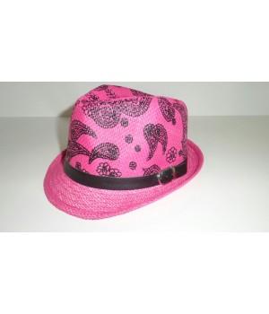 Шляпа Федора розового цвета (подростковая)