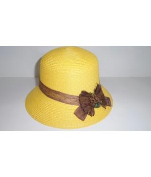 Шляпа клош жёлтая