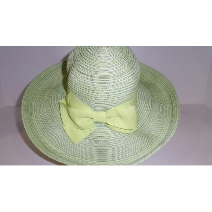 Шляпа зелённая с лентой