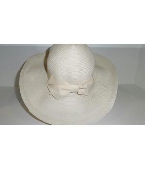 Шляпа белая с лентой